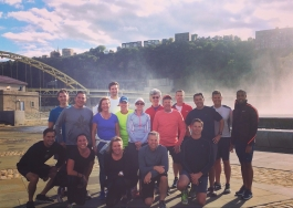 Private running group at Point State Park