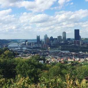 View of downtown Pittsburgh from the Slopes
