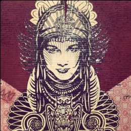 Unnamed Mural by Shepard Fairey